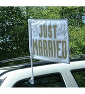 Just married bilflagga