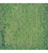 Damask emerald servetter