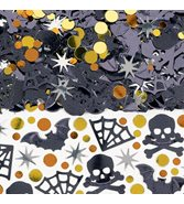 Halloween konfetti metallic