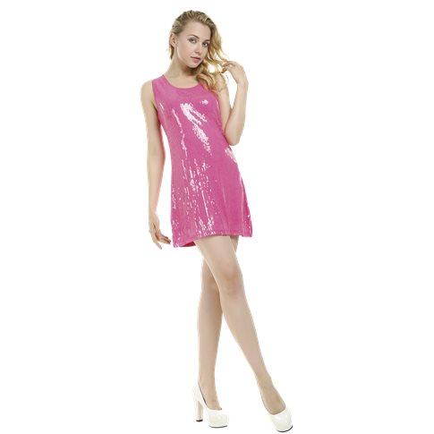 rosa glitter klänning