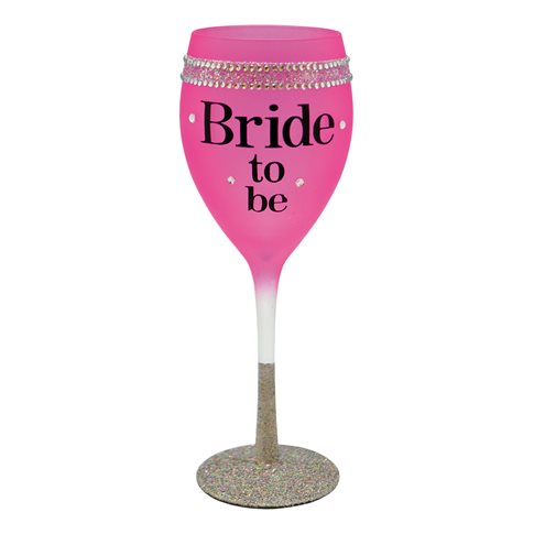 Rosa strass glas bride to be