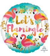 Let's Flamingle Rund Heliumballong