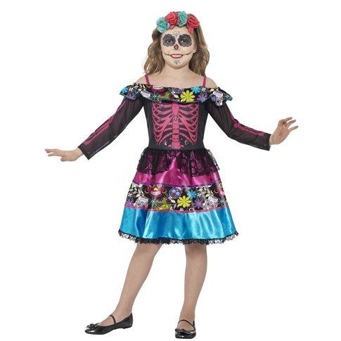 Dia de los muertos klänning för barn Halloween Maskeraddräkter