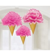 Glass Pompoms 3-Pack